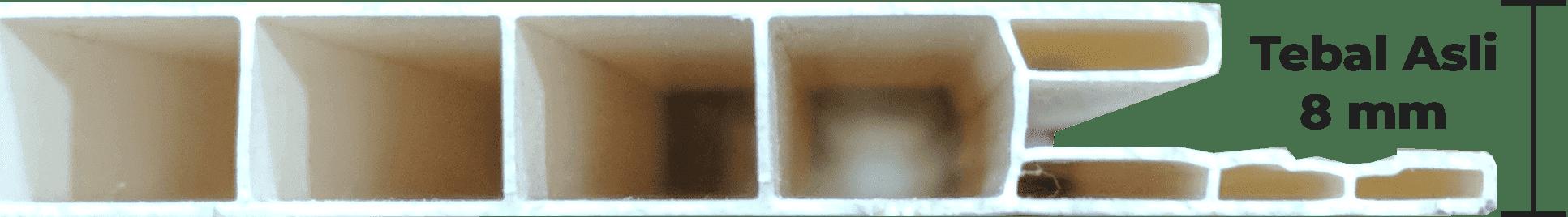 Plafon PVC Bringhome Lebih Baik Lebih Tebal Asli 8 mm