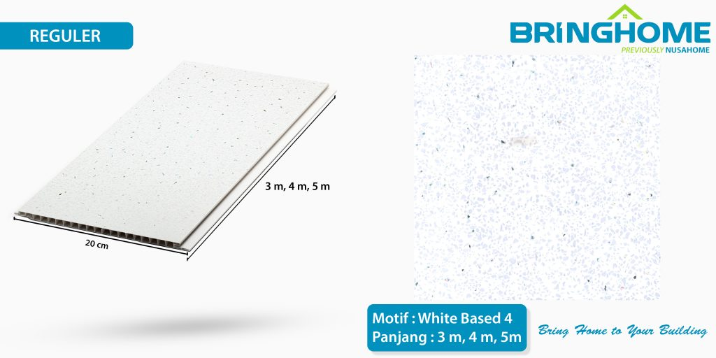 white based 4 bringhome plafon pvc exclusive