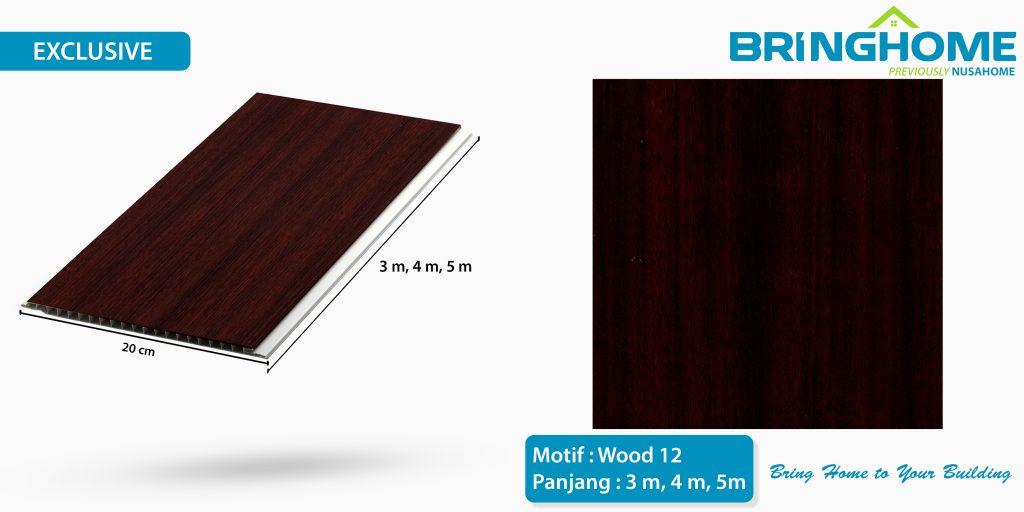 wood 12 bringhome plafon pvc exclusive