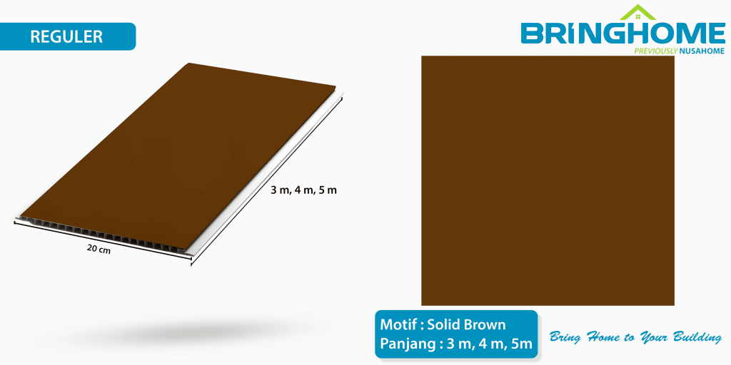 solid brown bringhome plafon pvc exclusive