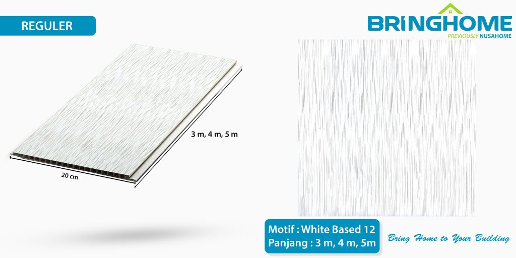white based 12 bringhome plafon pvc exclusive