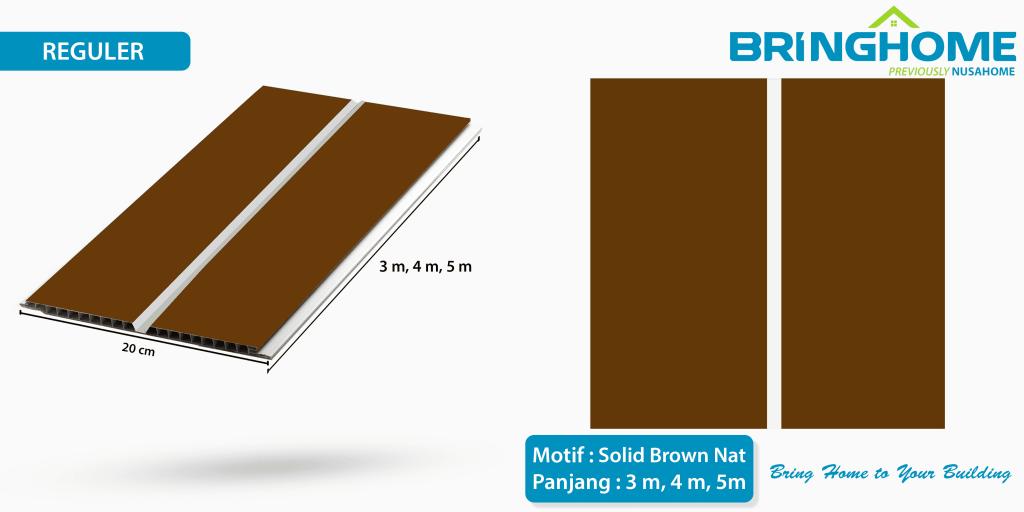 solid brown nat bringhome plafon pvc exclusive