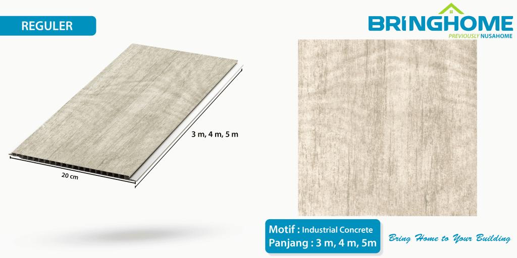 industrial concrete bringhome plafon pvc exclusive