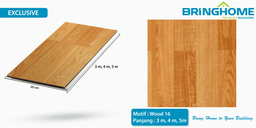 wood 16 bringhome plafon pvc exclusive
