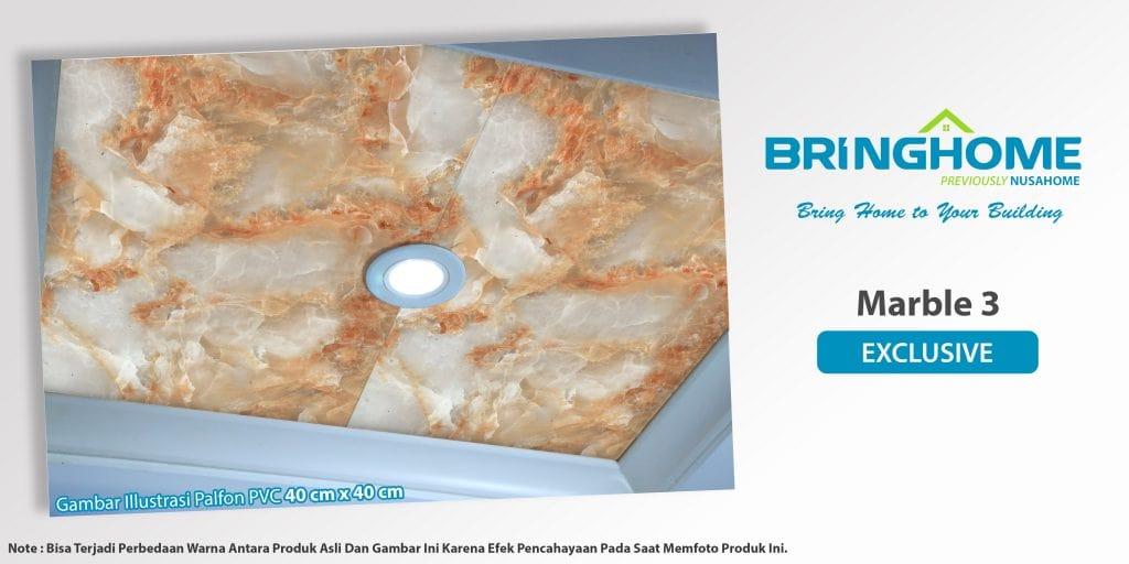Marble 3 terpasang bringhome plafon pvc exclusive